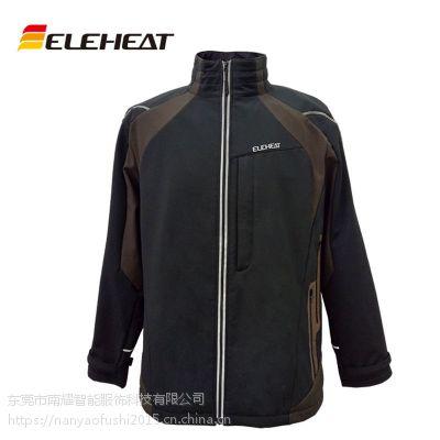 时尚秋冬新款青年男式夹克立领发热服户外休闲电热服