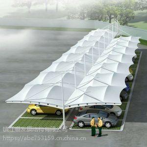 广场建筑景观棚户外双开汽车停车棚露天PVDF遮阳遮雨棚膜结构