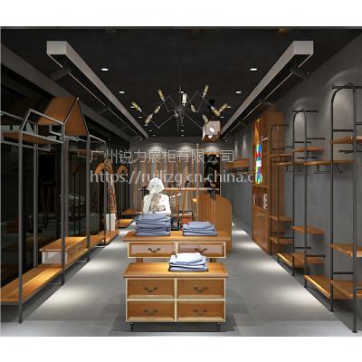 男女装货架现代铁艺上墙侧挂壁挂式组合陈列架定制