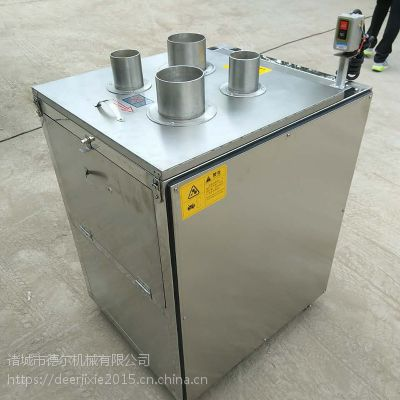 德尔全自动山药红薯萝卜切片机 上入料式多功能切片设备 可调厚薄