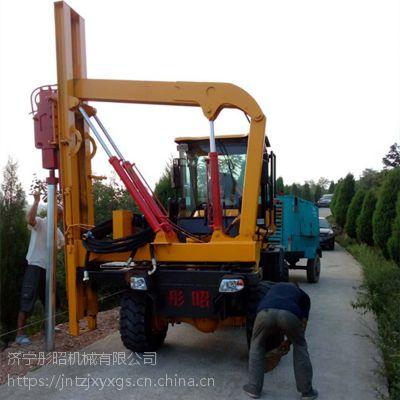公路护栏打桩机型号波形护栏钻孔机日常保养