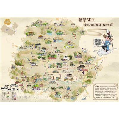 手绘地图_麦扑线上导航app_天都公园手绘地图