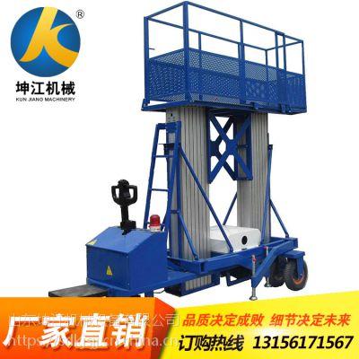 厂家生产铝合金式单双桅柱高空作业升降机家用小型提升机单人电梯