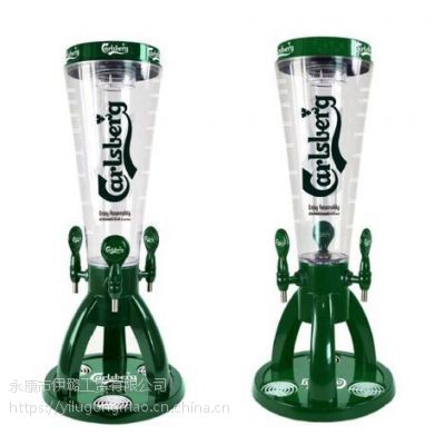 伊璐新款3头酒塔酒炮 3.5L啤酒桶饮料果汁机 餐厅酒吧酒柱分酒器冰桶