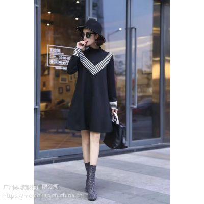 广州品牌折扣女装尾货批发优质连衣裙