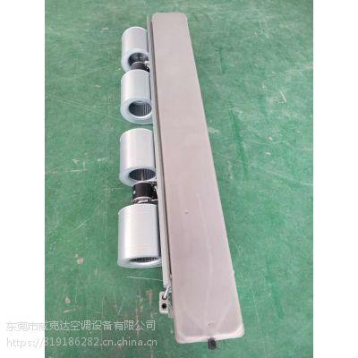 深圳大风量2380立方纯铜风机盘管 亲水铝箔5P暗装盘管机
