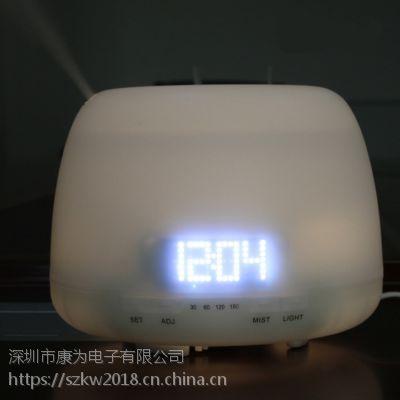 京东天猫热销款超声波香薰加湿器带时间显示功能