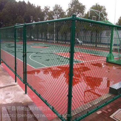 朋英 生产直销 体育场围栏网 抗晒围墙铁丝防护网 包塑安全隔离网