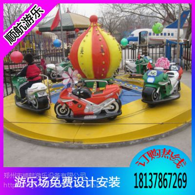 广场游乐场设备8臂弹跳摩托竞赛,摩托竞赛顺航报价