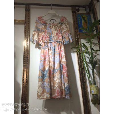 正规服装批发厂家清仓连衣裙批发十几块钱时尚连衣裙供货韩版连衣裙