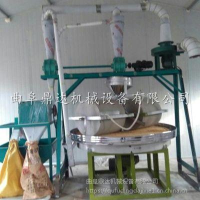 双辊电动石碾价格 鼎达全自动谷糠分离电动石碾 陕西粮食加工设备