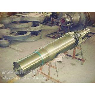 F系列泥浆泵配件传动件 铸铁 小齿轮轴总成 合金钢锻件