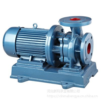 新玛泵业热销ISG65-125立式管道泵 3千瓦离心泵