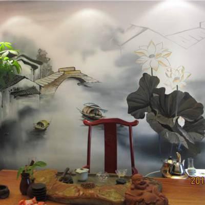 南昌手绘墙画/南昌背景墙彩绘墙绘!