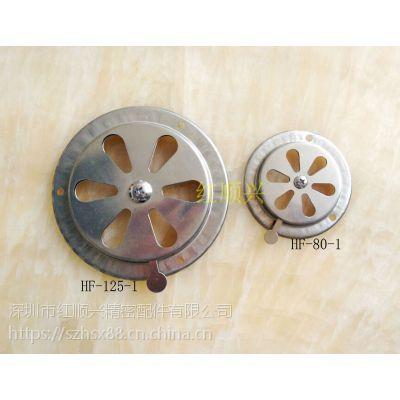 供应工业烤箱不锈钢通风口,烘箱排风盖,机械设备风量调风阀门HF-125-1