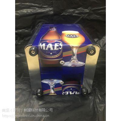 多功能马口铁纸巾盒,目标供于酒吧,KTV场合,是一款不错的包装盒。