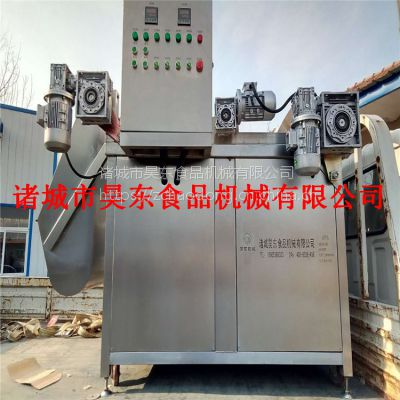 水利除渣QQ豆干油炸机 诸城昊东QQ豆干油炸流水线厂家