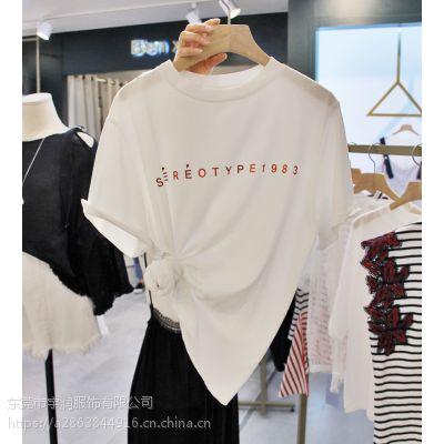 2019便宜女装T恤韩版时尚女士上衣大版T恤尾货批发市场女装短袖清2元地摊货