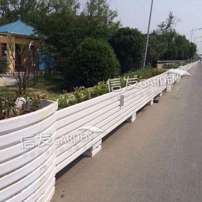 道路隔离栏隔离带组合花箱花盆 pvc铝合金经久耐用厂家直销