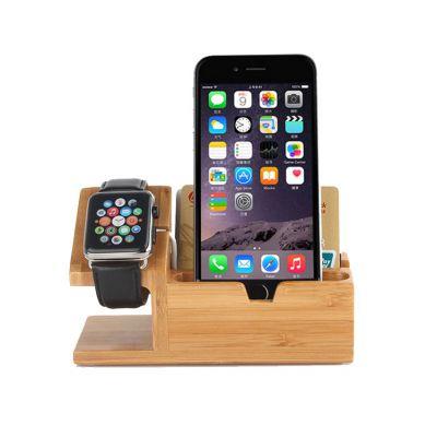 木制品苹果wath手表充电支架苹果手机竹木质充电底座竹木质手机支架苹果手表充电支架