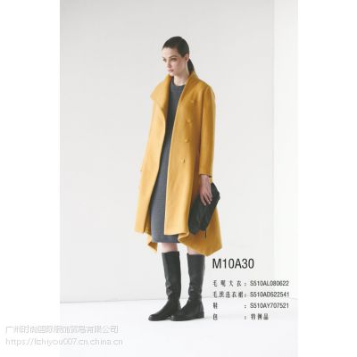 三淼品牌女装秋冬新款黑色简约女装专柜正品低价折扣女装批发