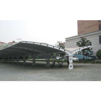 上海聚翼膜结构车棚厂家订制 上海聚翼膜结构车棚灵活性