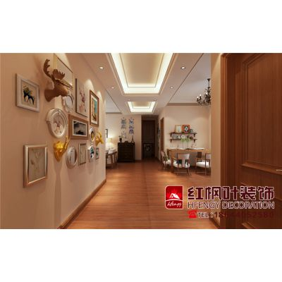 富力城-个性简约美式风格-哈尔滨红枫叶装饰