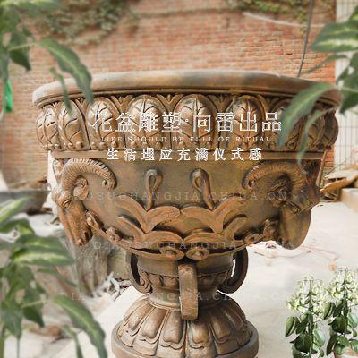 玻璃钢复古花盆 欧美纤维玻璃钢花盆 厂家 批发