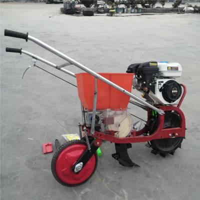 手扶汽油播种机 农用花生施肥播种机 圣鲁机械