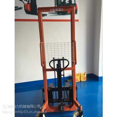1吨C型钢手动液压升高车惠州哪里有鸿福牌叉车手动堆高车