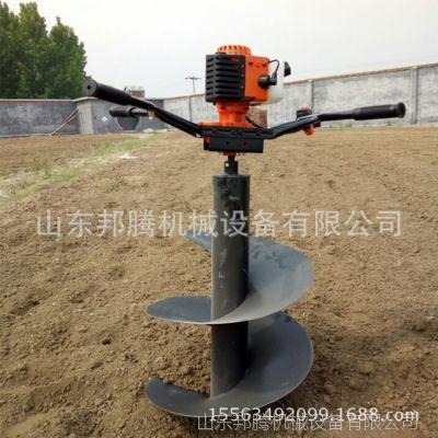 河北手提式汽油挖洞机 内蒙农林业种植汽油挖坑机 动力大