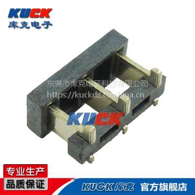 电池座连接器 8900-4.5H刀片式3PIN间距3.7PH高度4.5H带柱