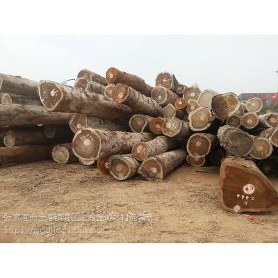 张家港现货供应进口核桃木原木 核桃木板材