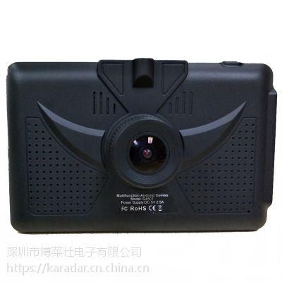 4.5寸便携式安卓汽车导航带前置摄像头1080p