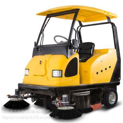 西安小区道路用环卫清扫车 明诺MN-E800W驾驶式电动扫地车
