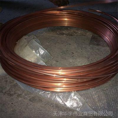 紫铜方管盘管14*10*2mm/12*14*1.5mm铜方管现货供应 天津铜管厂家