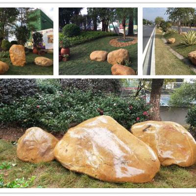 良好园林30CM黄石,韶关庭院造景黄蜡石,韶关鱼池驳岸黄腊石,黄石厂家