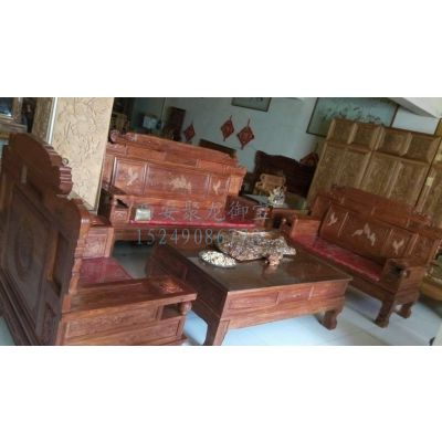 西安实木沙发图片价格表、红木沙规格、中式实木沙发价格