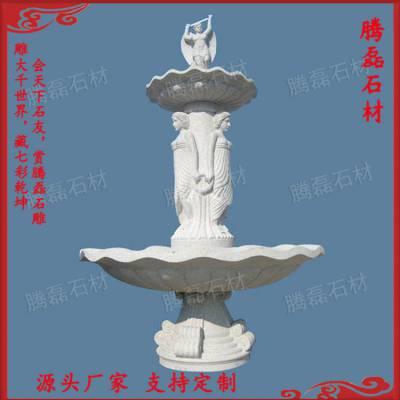 福建惠安 厂家直销石雕喷泉 园林流水水钵 欧式水景装饰