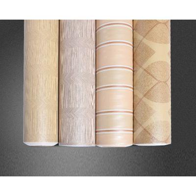 广州缘艺墙纸工厂直销复古木纹系列彩装膜 pvc自粘墙面壁纸