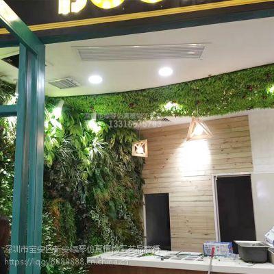 深圳绿琴厂家热销 仿真植物墙 人造假绿植墙 人造多肉植物 绢布装饰假花假叶子