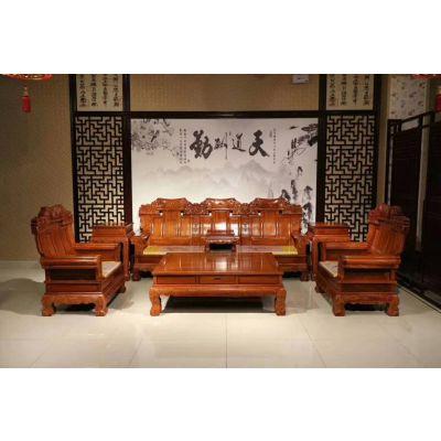 供应 刺猬紫檀正品兰亭序123组合沙发批发名琢世家