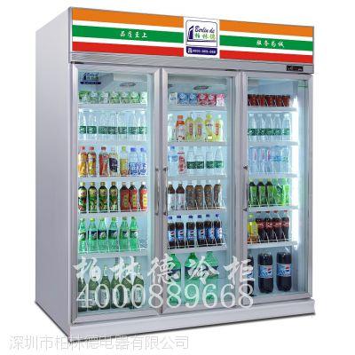 广州便利店饮料柜三门展示柜哪里有卖多少钱,三门饮料柜,柏林德品牌