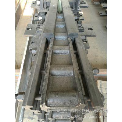 混凝土枕50钢轨9号单开道岔用合金钢组合辙叉