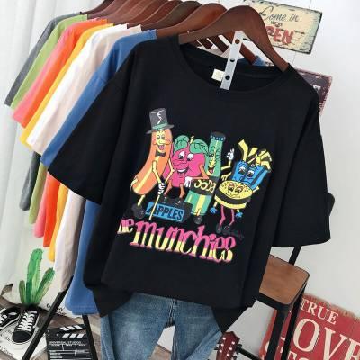 广州哪里有尾货批发库存韩版女装上衣纯棉T恤清货几元服装批发地摊货
