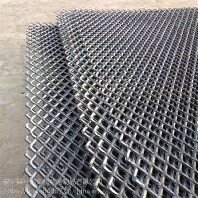 安平县脚踏钢板网 重型 菱型 工作平台 建筑工地走道 防滑钢板网