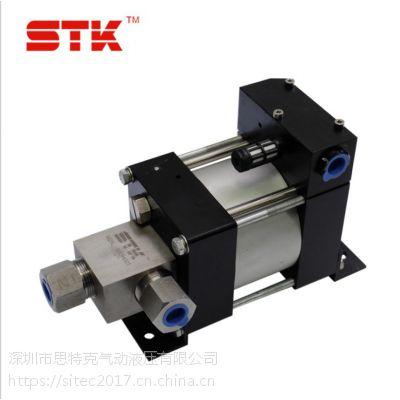 便携式高质量气驱液体增压泵 气动液体增压系统思特克直销M25L