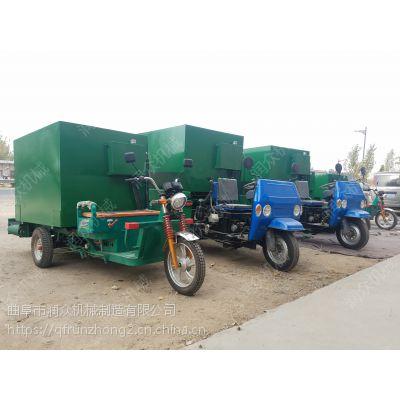 种牛繁育基地用新型喂料车 润众 牛场优质自动撒料车