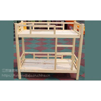 幼儿园实木床上下铺儿童床 现代中式学校双层床