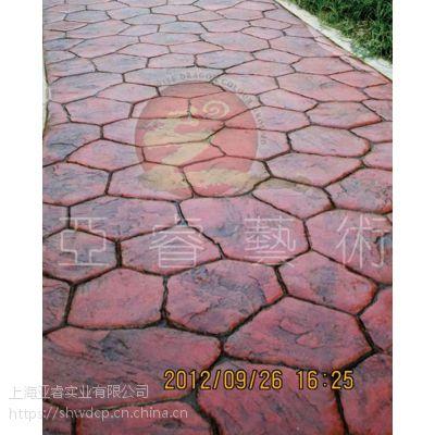 彩色压印地坪材料|压模路面工程报价|水泥压花路面施工